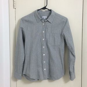 Steven Alan Gray Button Down Shirt Long Sleeve